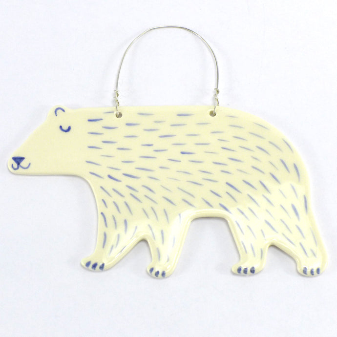 Polar bear decoration - white