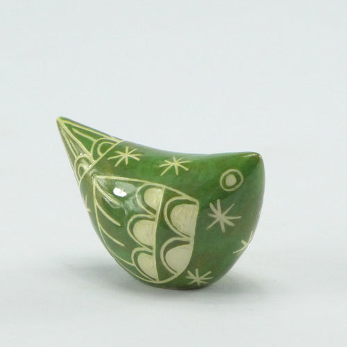 Ceramic small bird green