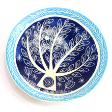 Load image into Gallery viewer, Ceramic tree bowl dark blue