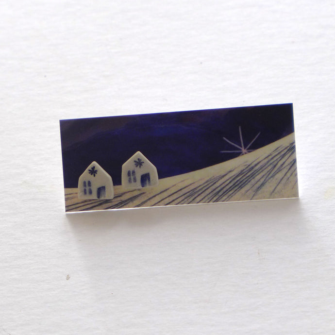 House stud earrings