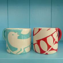 Load image into Gallery viewer, Turquoise ava bird mug