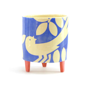 Blue ava bird large planter