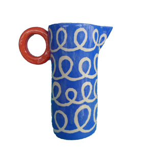 Blue squiggle tall baby jug