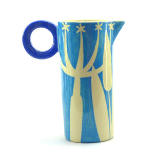 Bright blue seedhead tall baby jug
