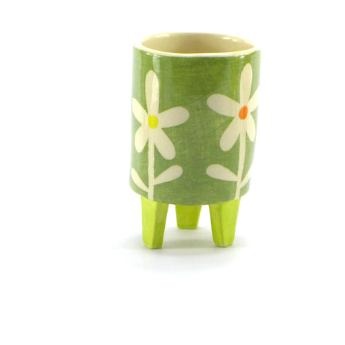 Lime daisy baby planter
