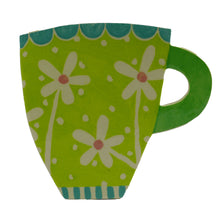 Load image into Gallery viewer, Lime daisy cup profile vase