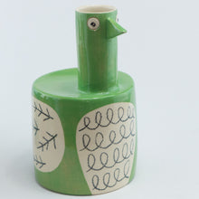 Load image into Gallery viewer, Green large bird vase
