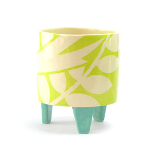 Lime ava bird small planter
