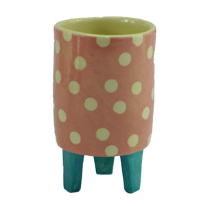 Pink spotty baby planter