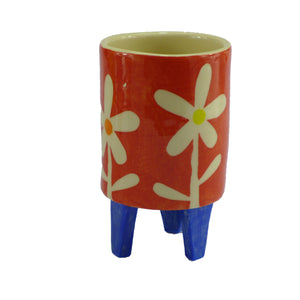 Red daisy baby planter