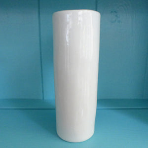 White flower tall cylinder vase