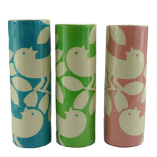 Load image into Gallery viewer, Green ava bird medium cylinder vase