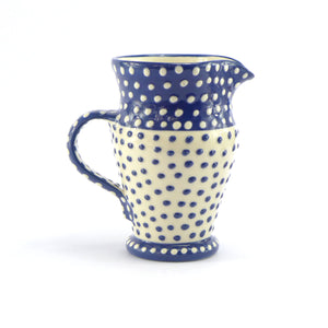 Blue spotty medium jug