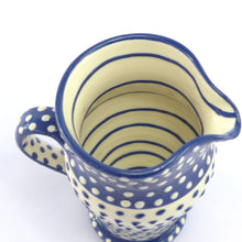 Load image into Gallery viewer, Blue spotty medium jug