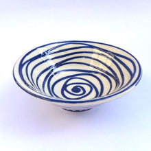 Load image into Gallery viewer, Small bowl blue swirl