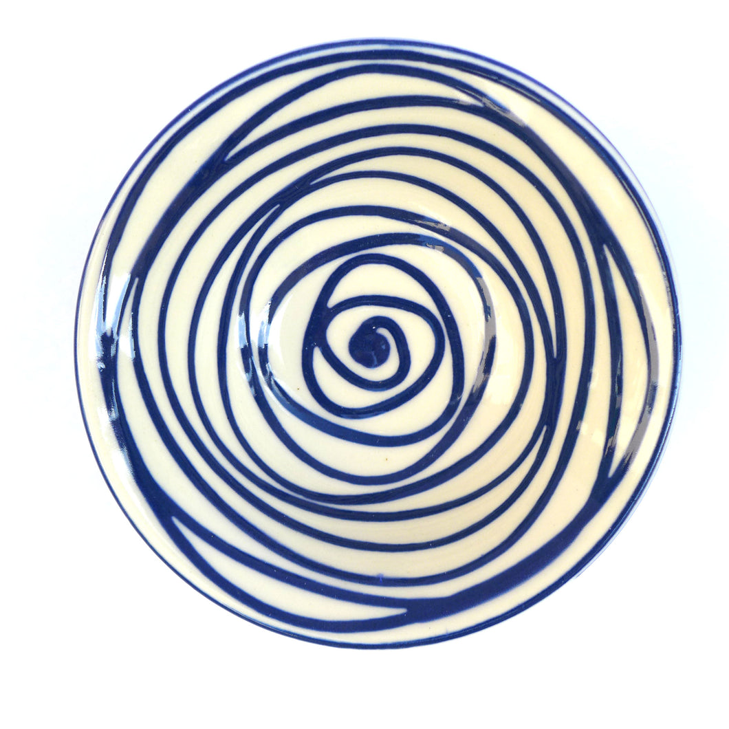 Small bowl blue swirl