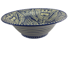Load image into Gallery viewer, Blue fish large bowl