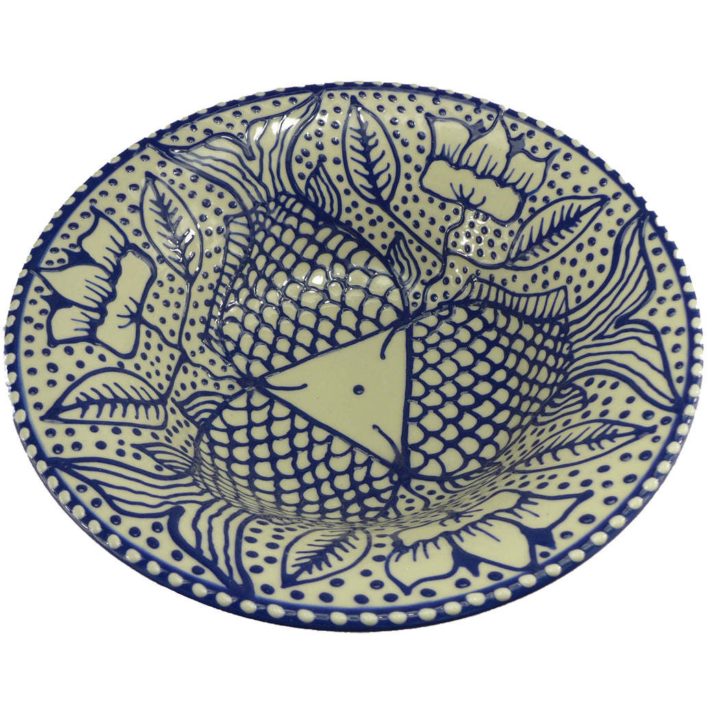 Blue fish large bowl