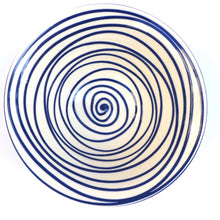 Load image into Gallery viewer, Blue swirl medium bowl
