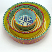 Load image into Gallery viewer, Medium flat bottomed bowl multi