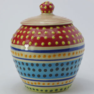 Spotty sugar jar
