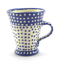 Load image into Gallery viewer, Blue straight spotty mug