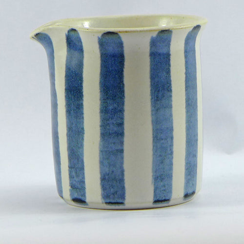 Blue and white medium jug vertical stripe