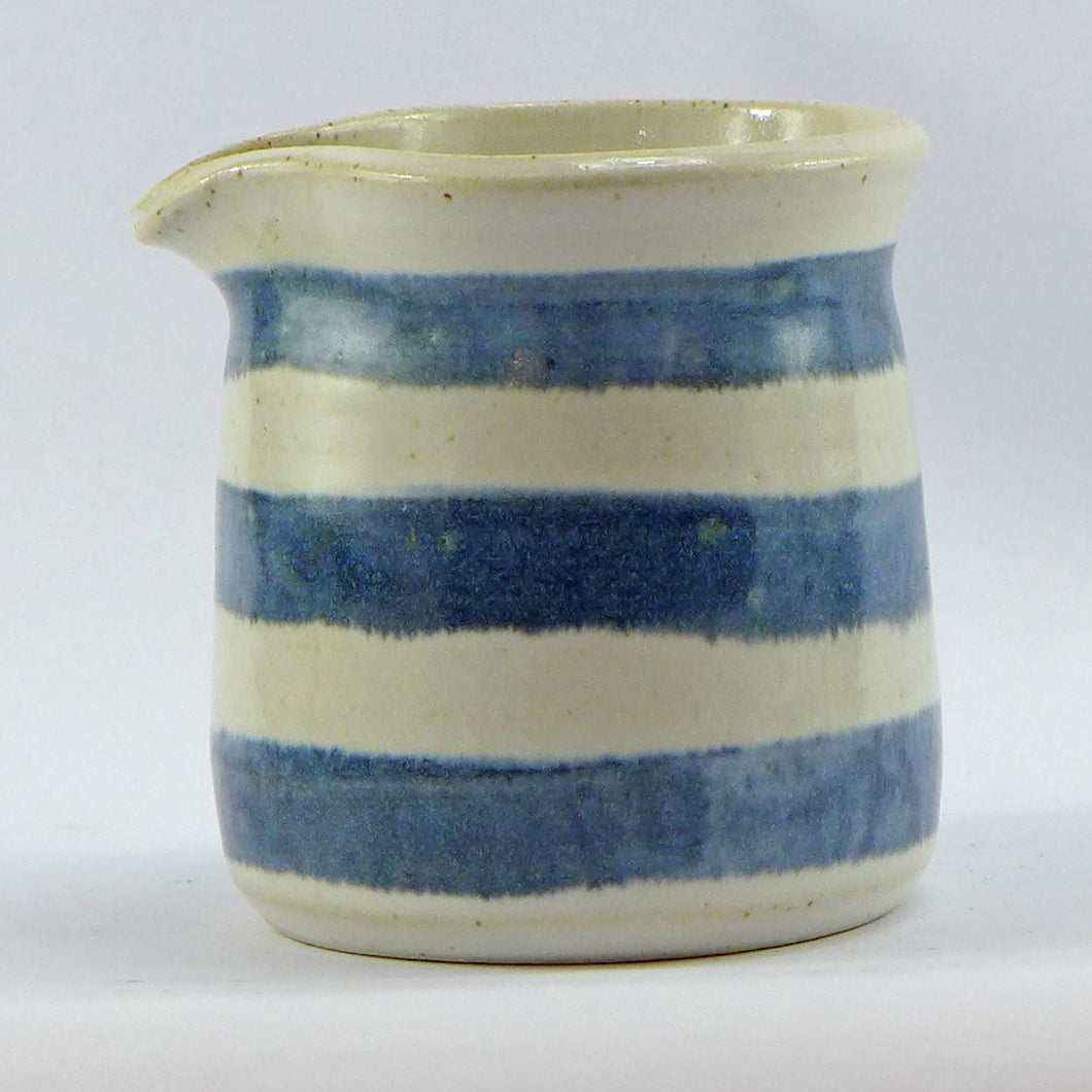 Blue and white mini jug horizontal stripe