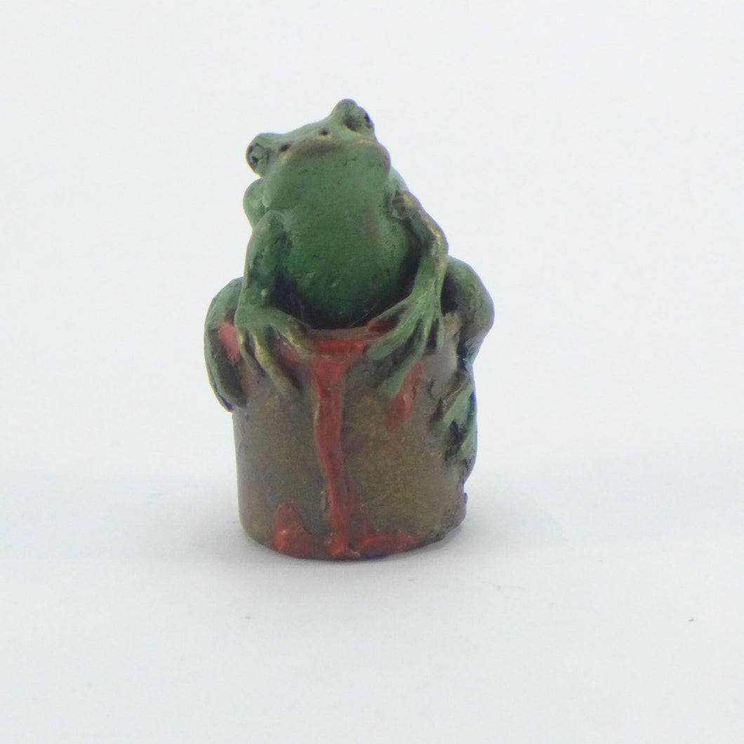 Frog on a paint pot