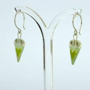 Yellow heart enamelled earrings NP12