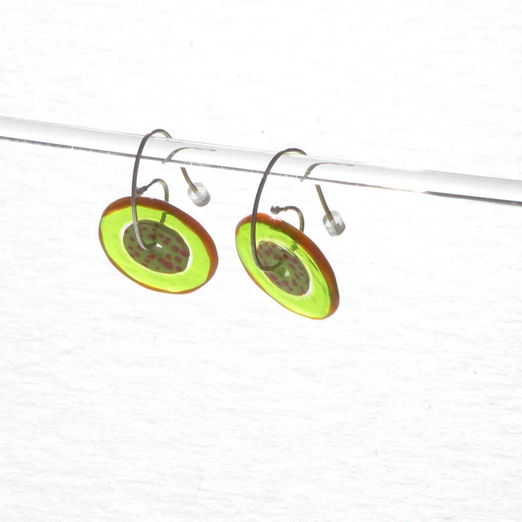 Jam Tart 02 Glass Earrings