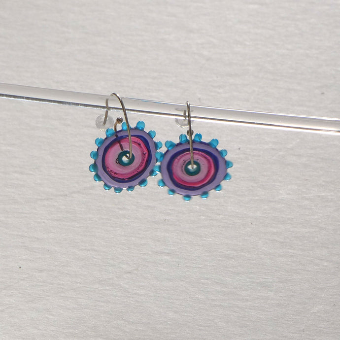 Whirligig 01 Glass Earrings