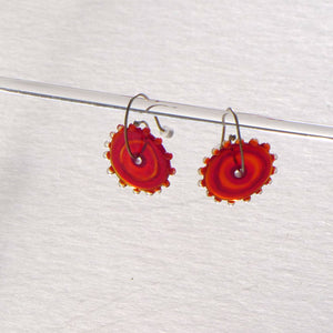 Whirligig 02 Glass Earrings