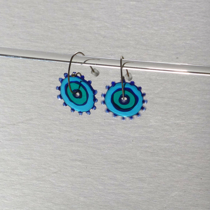 Whirligig 04 Glass Earrings