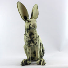 Load image into Gallery viewer, Large sitting ceramic hare - oxide glaze