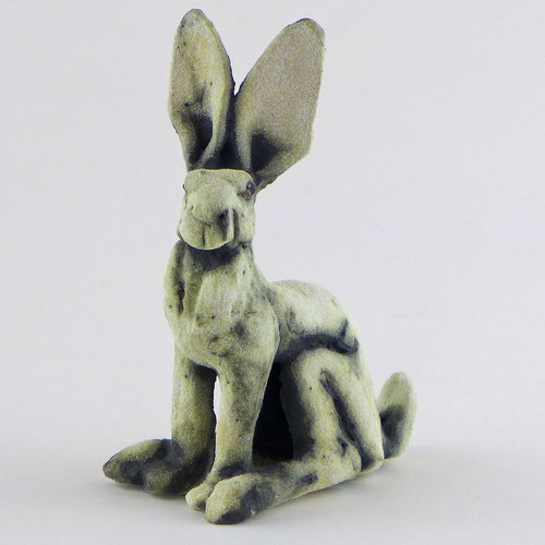 Small sitting hare - oxide glaze