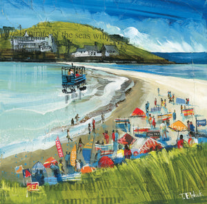 Burgh Island Collage Print