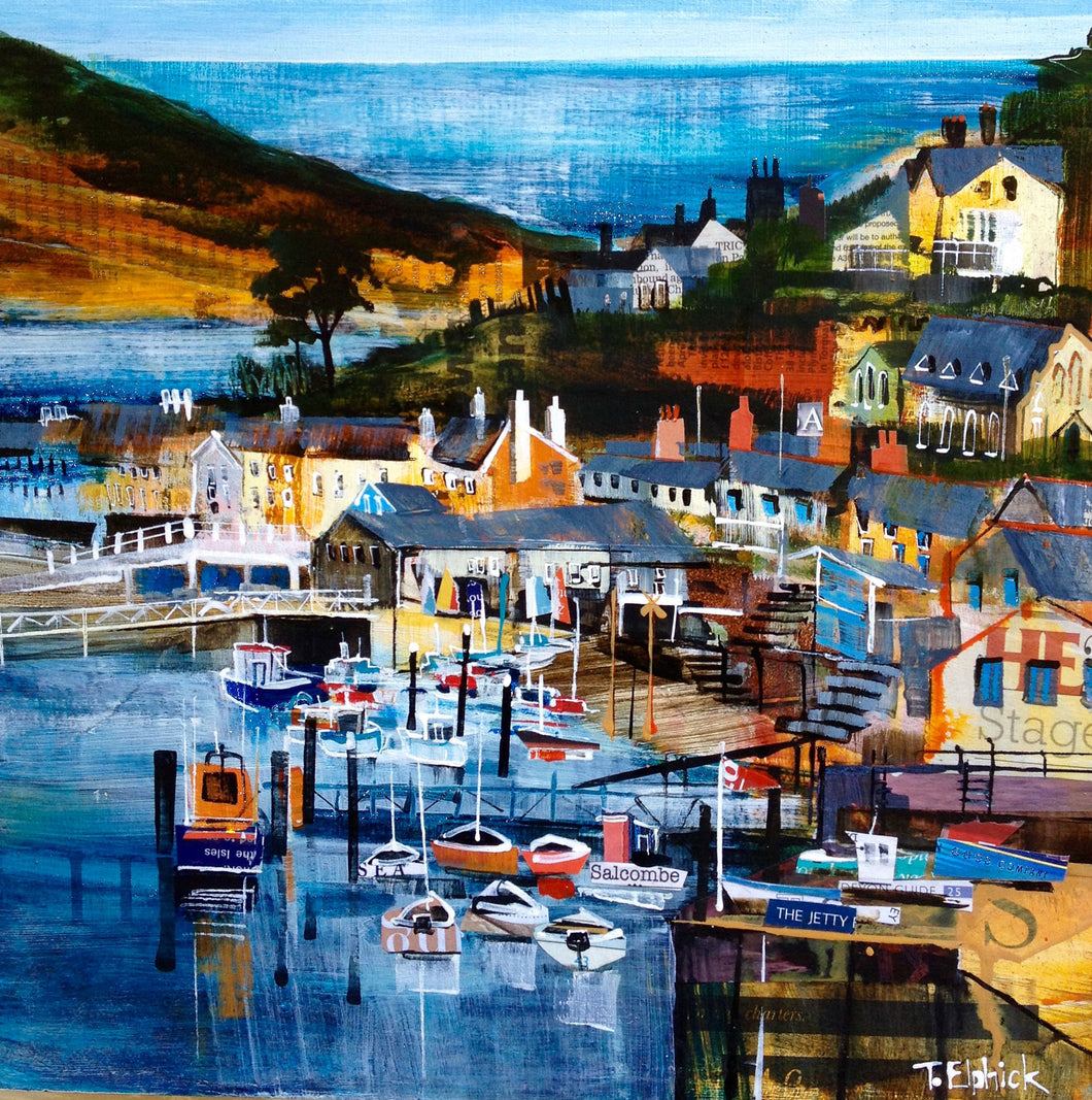 Salcombe Collage Print