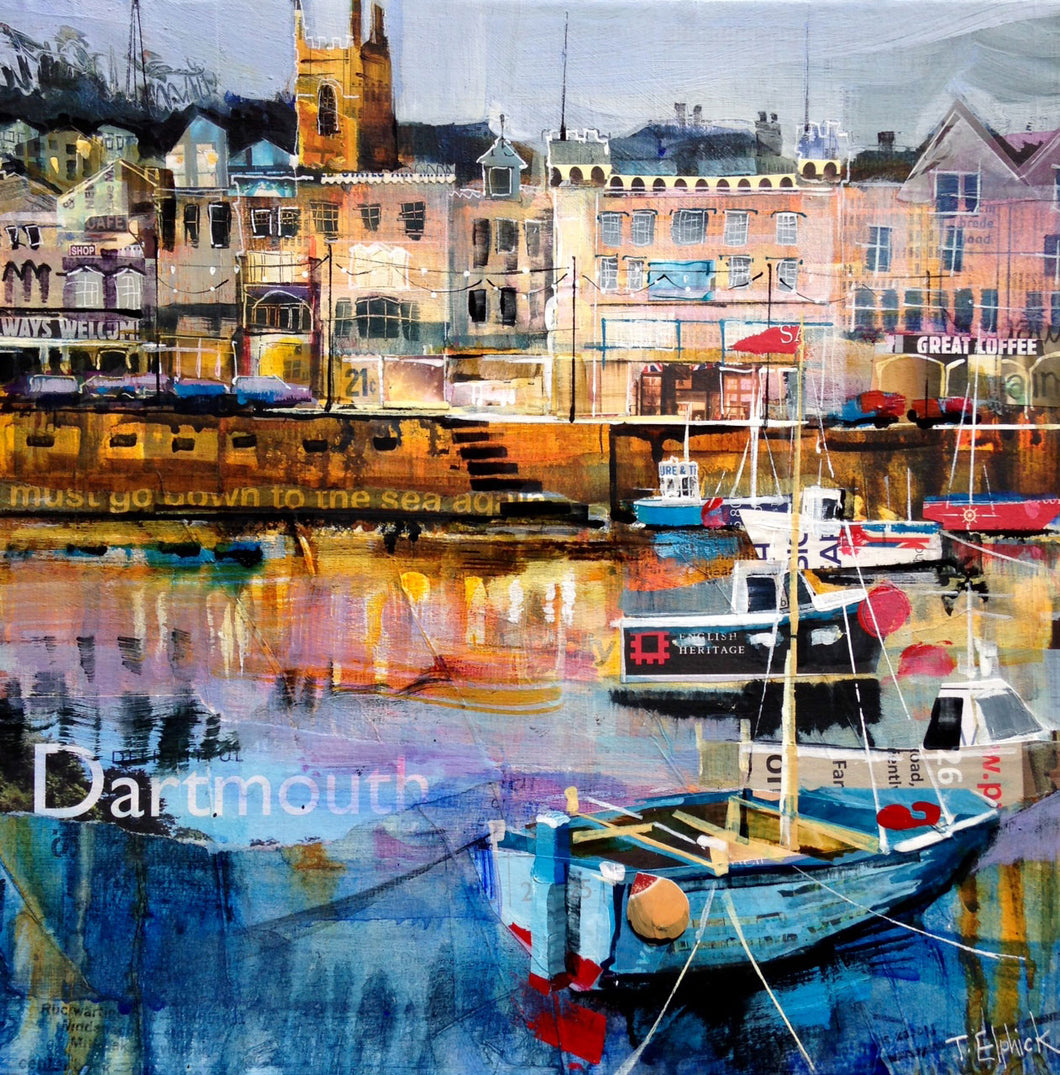 Evening Light Dartmouth Collage Print