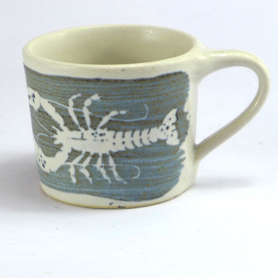 Ceramic espresso cup - lobster