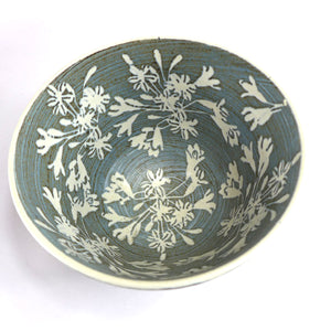 Ceramic medium bowl - agapanthus