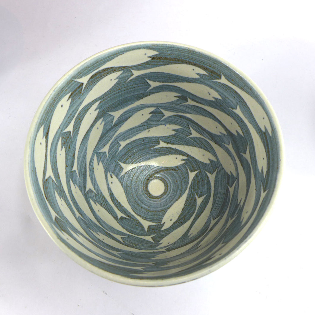 Ceramic medium bowl - fish