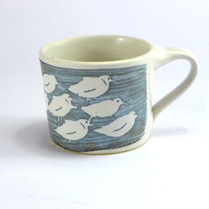 Ceramic espresso cup - sanderlings