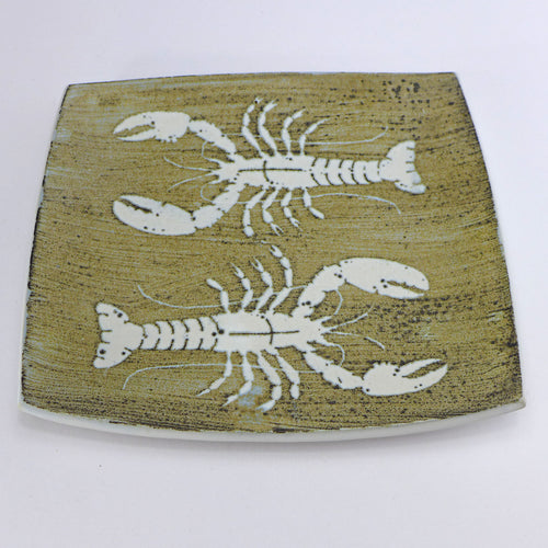 Ceramic flat platter - lobster