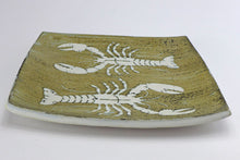 Load image into Gallery viewer, Ceramic flat platter - lobster