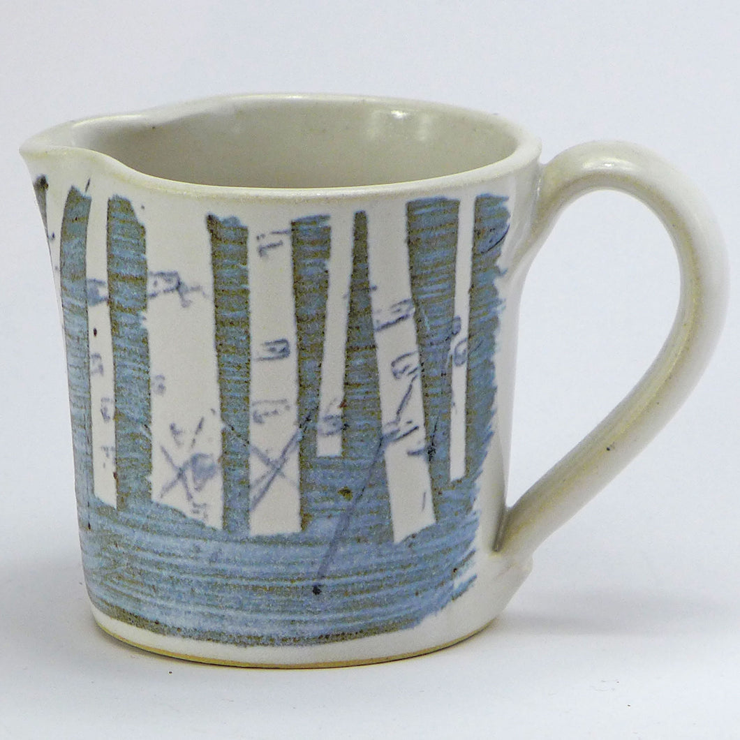 Ceramic small jug - birch trees
