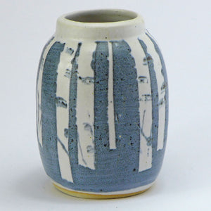 Ceramic small posy vase - birch trees