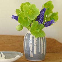 Load image into Gallery viewer, Ceramic small posy vase - birch trees