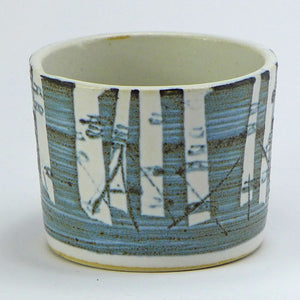 Ceramic small pot - birch trees