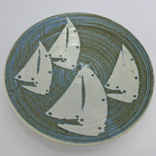 Load image into Gallery viewer, Ceramic small shallow bowl - yachts